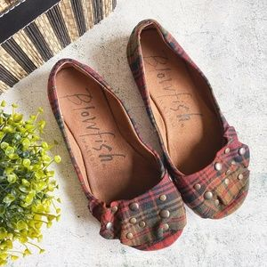 Blowfish Malibu Tartan Rhinestone Slip-On Flats